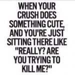 It is not odd to have crush on someone, we all get someone on our minds in college age, you like someone, you feel them and you fall for them, Below are some Crush Quotes on pictures which can relate to your feelings. Cute Crush Quotes, Secret Crush Quotes, Cute Boy Quotes, Crush Qoutes, The Words, Beau Message, Me Quotes, Funny Quotes, Sweet Quotes
