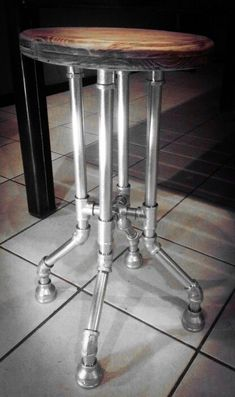 Discover thousands of images about Galvanized Pipe Bar Stool Industrial Flooring, Industrial Pipe, Industrial Interiors, Industrial Furniture, Kitchen Industrial, Industrial Wallpaper, Industrial Stairs, Industrial Closet, Industrial Windows