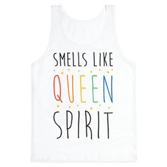 "Show off your gay pride with this ""Smells Like Queen Spirit"" cute LGBT pride design! Perfect for celebrating pride, gay marriage, coming out, equality, expressing your sexuality and being a cute queer!"