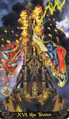 Tarot Illuminati The Tower - time for illumination, whether wanted or not