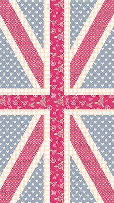 me encanttaaaa, bandera inglesa en rosa
