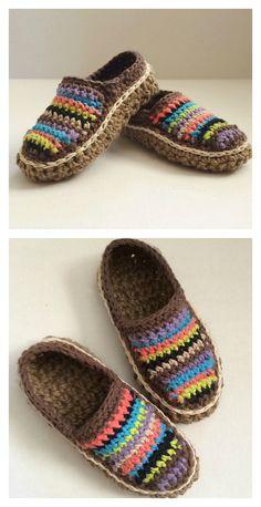 Crochet Moccasin Slippers Free Pattern