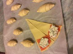 Croissants with smoked salmon and chive cream