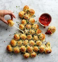 schnelle Fingerfood Rezepte zieh weihnachtsbaum mit mozzarella