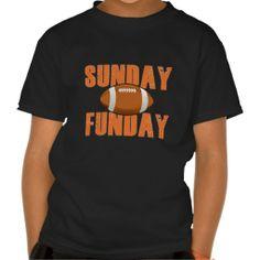 Sunday? Funday! Cute American Football T-shirt.
