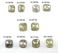 Diamond Color :salt n Pepper Color. Pepper Color, White Cushions, Rose Cut Diamond, Diamond Shapes, Colored Diamonds, Diamond Earrings, Salt, Pairs, Stone