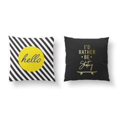 This item is unavailable : SET of 2 Pillows I'd Rather Be Skating Gold Pillow Modern Pillows, Decorative Pillows, Boys Bedroom Sets, Throw Pillow Cases, Throw Pillows, Skateboard Room, Funny Pillows, Guest Room Decor, Teen Decor