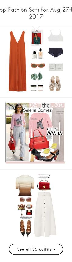 """Top Fashion Sets for Aug 27th, 2017"" by polyvore ❤ liked on Polyvore featuring STELLA McCARTNEY, Byredo, Giorgio Armani, Fig+Yarrow, Dries Van Noten, Akris, Christian Louboutin, Quay, GetTheLook and selenagomez"