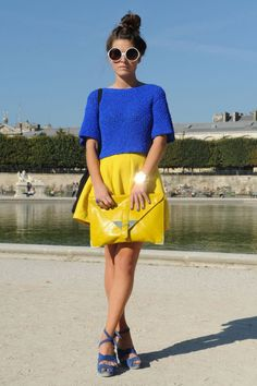 Le bon look pour la Fashion Week : On ose les couleurs flashy !