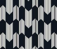 Boho arrows - black fabric by fable_design on Spoonflower - custom fabric