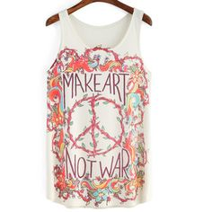SheIn(sheinside) Multicolor Floral Letters Print Tank Top