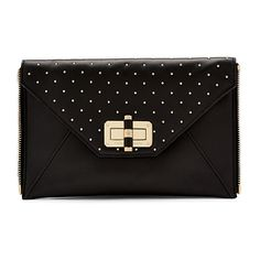 c6244af1c63be Browse and shop Diane Von Furstenberg Women's Black Agent Mila Studded Leather  Zip On Clutch from the world's best luxury designer boutiques at Modalist,  ...