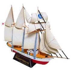 Sailship: Akogare,Vehicles,Paper Craft,Asia / Oceania,Japan,white,ship
