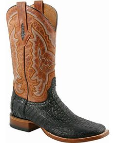 Lucchese Men's Handcrafted 1883 Hornback Caiman Cowboy Boot Square Toe Black US - http://authenticboots.com/lucchese-mens-handcrafted-1883-hornback-caiman-cowboy-boot-square-toe-black-us/