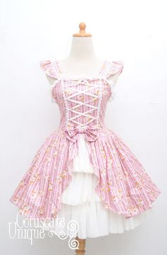 Hey, I found this really awesome Etsy listing at http://www.etsy.com/listing/123295762/teddy-bear-lolita-dress-jumper-victorian