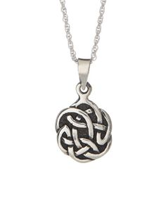 Another great find on #zulily! Sterling Silver Celtic Knot Round Pendant Necklace #zulilyfinds