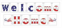 FREE Printable Welcome Home Banner at www.bannergrams.com/welcome_home_banners.html