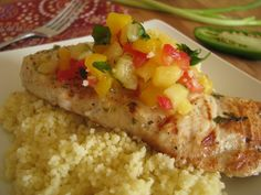 MARGARITA GRILLED CHICKEN WITH PINEAPPLE MANGO SALSA