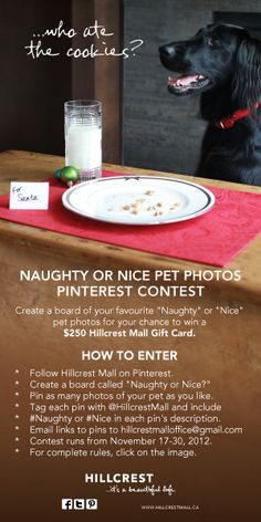 Enter Hillcrest Mall's Pinterest Contest from November 17 to 30 for your chance to win a $250 gift card!