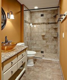 Like this look for the boys' bathroom and it is the exact layout, so this is a great preview.