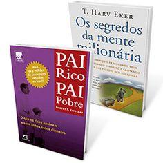 Kit Livros - Pai Rico, Pai Pobre + Os Segredos da Mente Milionária
