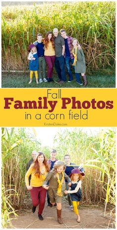 Fall Family Photos in a corn maze. Plus ideas for what to wear for fall pictures. www.capturing-joy.com