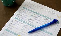 Planning maaltijden printable