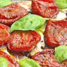 Italian Slow Roasted Tomatoes - thecafesucrefarine.com