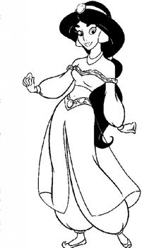free Jasmine coloring pages to color Disney Coloring Pages