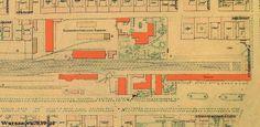 Dworzec Wiedeński Obiekt obecnie nie istnieje  Plan dworca i zabudowań dworcowych - stan z 1897: