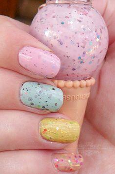 Etude House Ice Cream Nails!