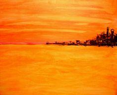 Orange Marina, Acrylic on Canvas, 60 x 80