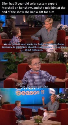 Kids say the darndest things. Laugh your self out with various memes that we collected around the internet. Funny Quotes, Funny Memes, Hilarious, Jokes, Tv Quotes, Really Funny, The Funny, Funny Kids, Ellen Degeneres Quotes