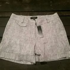 New Talbots  linen shorts New with tags 55% linen 45% cotton gray shorts. Size 6 petite. Talbots Shorts