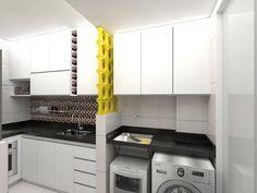 Apartamento .VB_Projeto 3D: Cozinhas modernas por Amis Arquitetura & Design