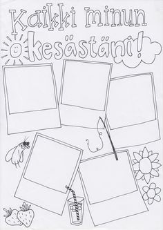Kesäkooste Beginning Of School, First Day Of School, Primary School, Pre School, Back To School, Teacher Inspiration, Teaching Aids, Kindergarten Teachers, Creative Teaching