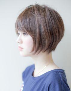 ナチュラル小顔ショート(IT-001) | ヘアカタログ・髪型・ヘアスタイル|AFLOAT(アフロート)表参道・銀座・名古屋の美容室・美容院