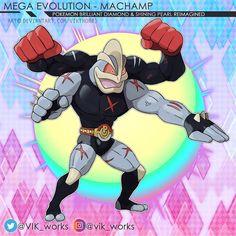 """119 Me gusta, 4 comentarios - ✦VIKthor✦01✦✦ (@vik_works) en Instagram: """"MEGA MACHAMP concept for BDSP . . . . . #ポケモン #pokemon #art #anime #fanart #artworks #illustration…"""" Mega Pokemon, Concept, Fan Art, Photo And Video, Illustration, Artworks, Anime, Instagram, Videos"""