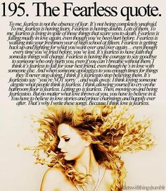 The Fearless Quote from Little Taylor Swift Things
