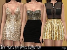 Sims 4 CC's - The Best: NEW YEAR'S EVE DRESS COLLECTION by Trillyke