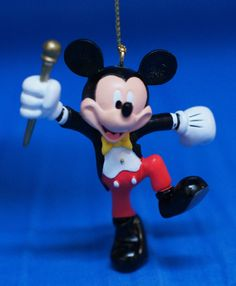 """Mickey Mouse Bandleader Happiest Celebration 3"""" Storybook Ornament Disney World  #DisneyParksExclusive #ChristmasOrnament"""