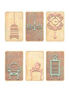 Nuskina: Imprimibles gratis estilo vintage para scrapbooking, collage, manualidades..