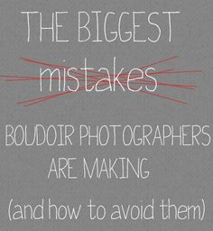 Biggest Mistakes Boudoir Photogs are Making (and how to avoid them) | Boudie Shorts