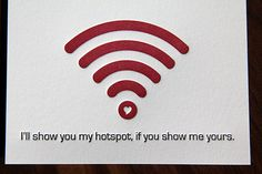 Letterpress Hotspot Love / Valentine's Day Card