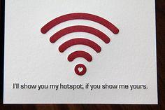 Letterpress Hotspot Love / Valentine's Day Card