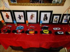 """SUPER HERO PARTY each kid has their own cape and mask and they go on a adventure to stop the """"villans"""" from taking the presents! Super Fun!"""