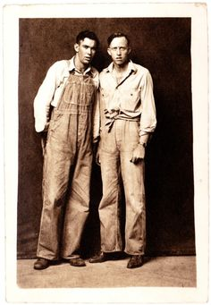 :::::::::: Vintage Photograph :::::::::: Couple of farm boys looking rather confuzzled about that thing called a camera.:::::::::: Vintage Photograph :::::::::: Couple of farm boys looking rather confuzzled about that thing called a camera. Antique Photos, Vintage Photographs, Vintage Photos, Old Pictures, Old Photos, Photo Book Reviews, Vintage Denim, Vintage Fashion, Farm Clothes