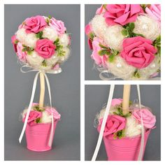 SPRING TOPIARY Weddings bouquet bunch of flowers by KseniyaRevta