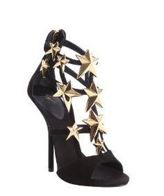 Giuseppe Zanottiblack suede star studded 'Aliek' platform sandals