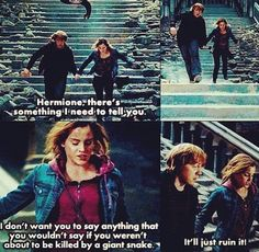 Deleted Ron and Hermione scene (: